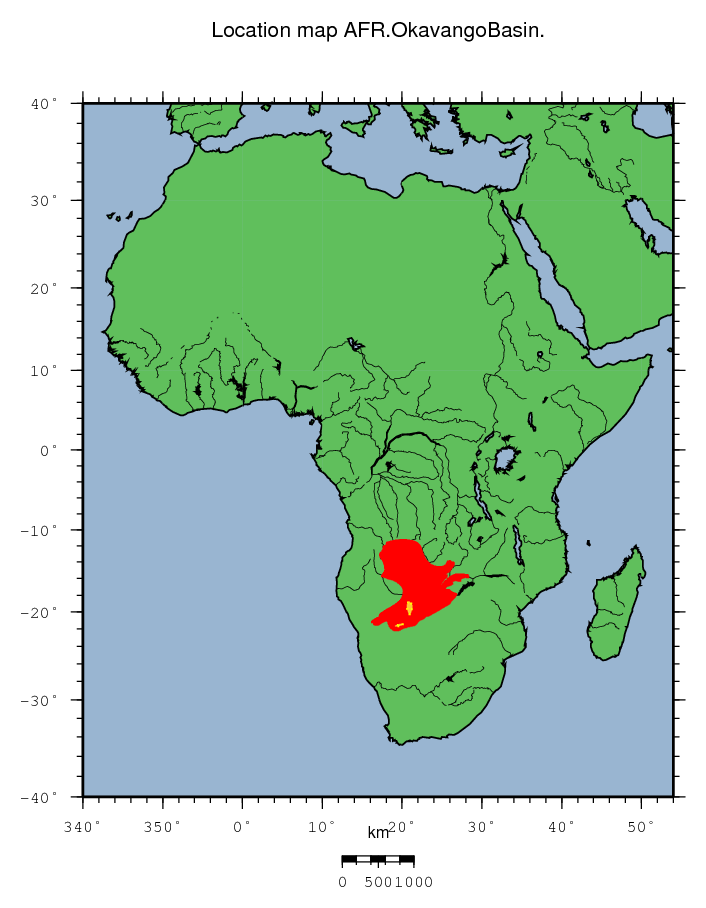AFR - Okavango Basin Okavango Basin Map