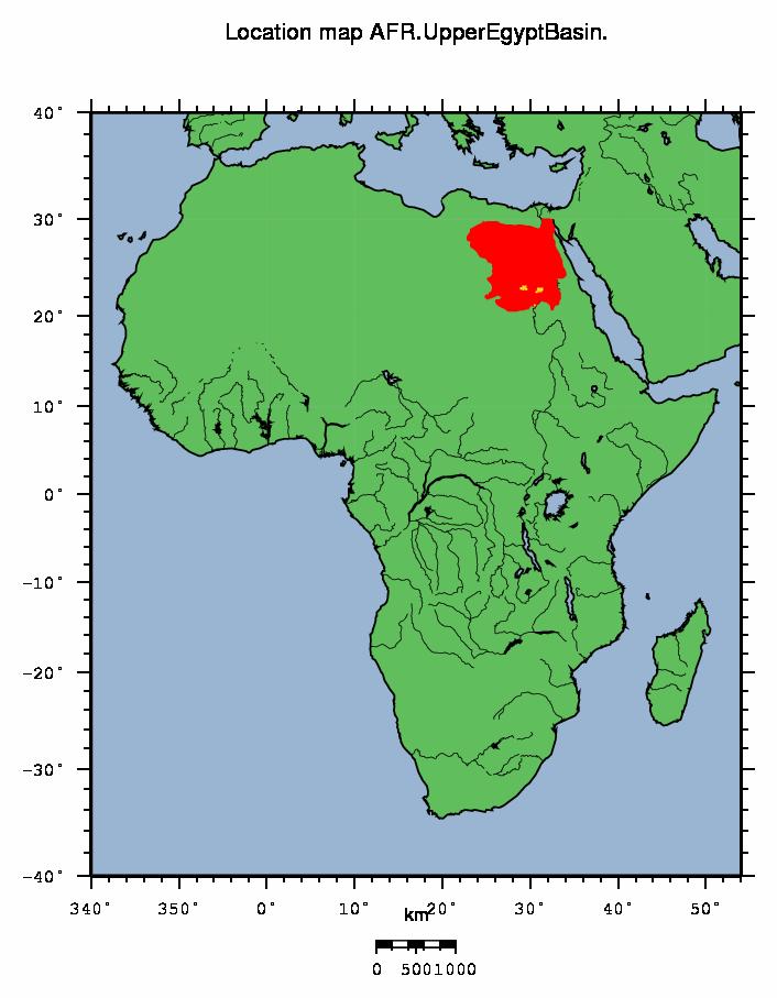 AFR Upper Egypt Basin - Map of egypt location
