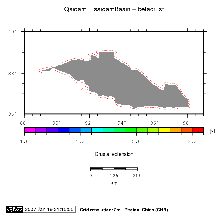 CHN - Qaidam (Tsaidam) BasinQaidam Basin Map