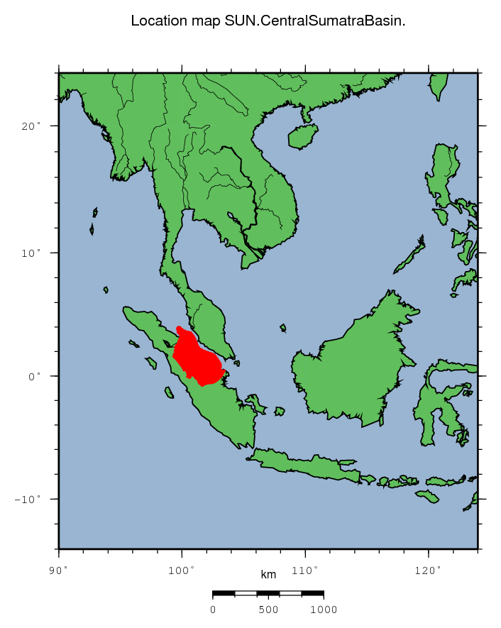 Central Sumatra Basin location map