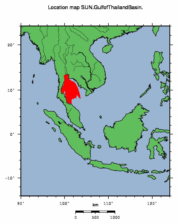 Gulf Of Thailand Map SUN   Gulf of Thailand Basin