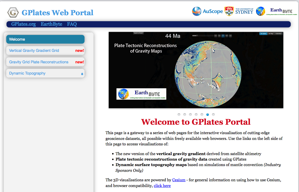 GPlates Portal Figure