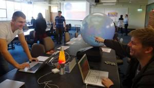 Nikita and Jono at the International Science School