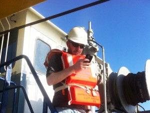 Simon Williams on the Southern Surveyor