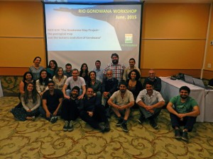 Nicholas Barnett-Moore group photo at the Gondwana Map Project workshop in Rio de Janeiro