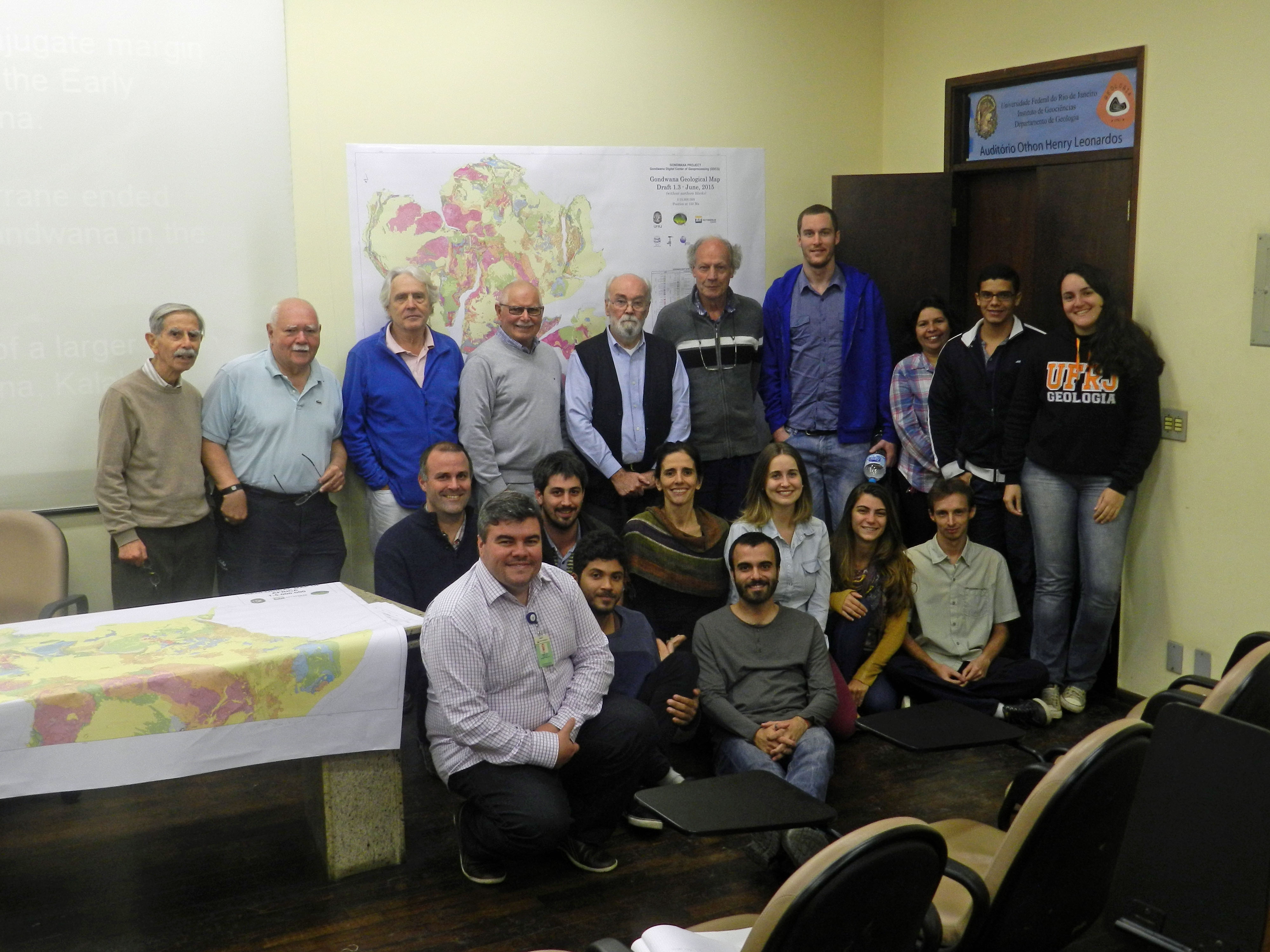 Nicholas Barnett-Moore with the Gondwana Map Project team in Rio de Janeiro