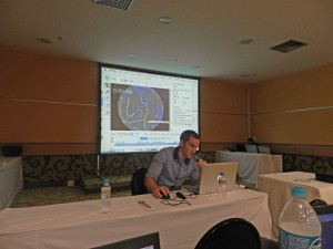 Nicholas Barnett-Moore teaching GPlates at the Gondwana Map Project workshop in Rio de Janeiro