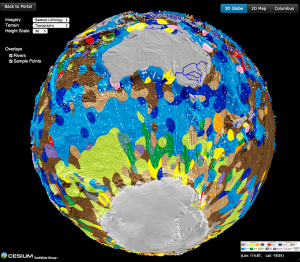 Lithology globe Aus Ant view