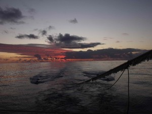 The sea from on board the French Research Vessel 'L'Atalante'