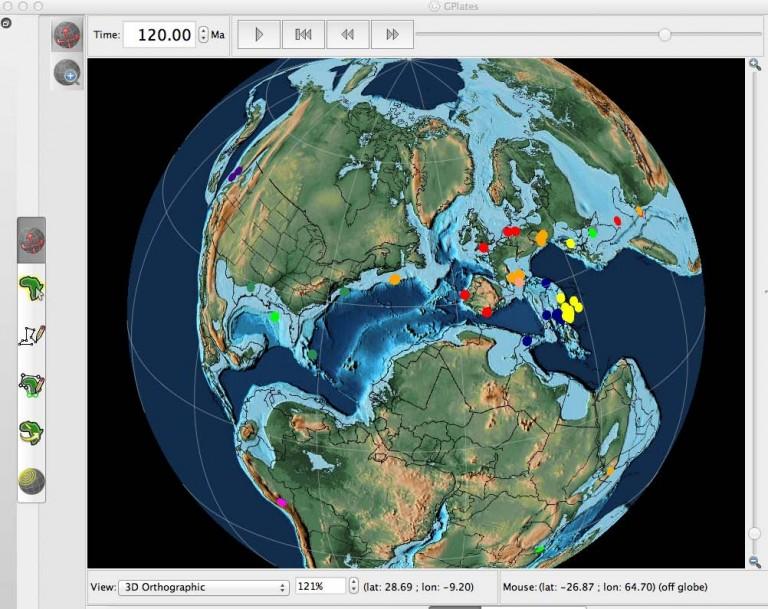 Paléocartes au cours des âges géologiques